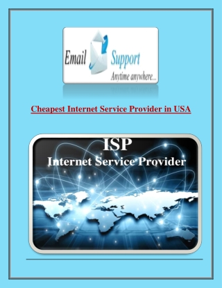 Cheapest Internet Service Provider in USA