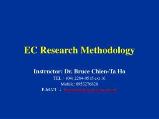 EC Research Methodology