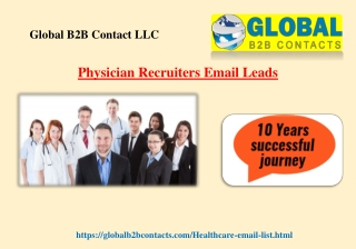 Physician Recruiters Email Leads