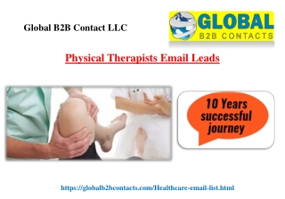 Physical Therapists Email Leads