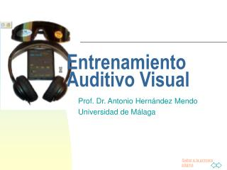 Entrenamiento Auditivo Visual