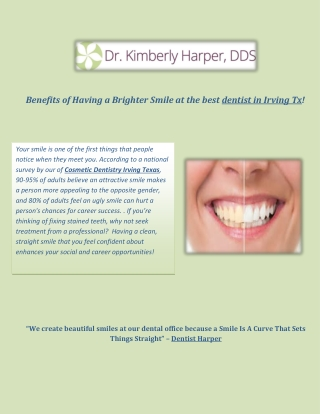 Benefits of a Professional Teeth Whitening ay Irving Family Dental!