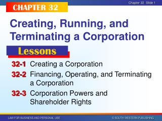 Creating, Running, and Terminating a Corporation