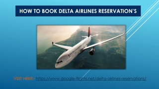 How to book Delta Airlines Reservations