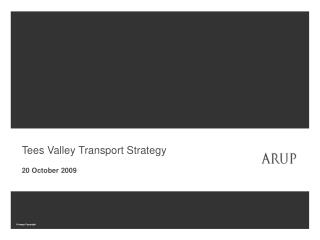 Tees Valley Transport Strategy 20 October 2009