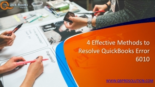 Finest Solution of QuickBooks Error 6010
