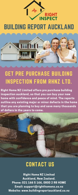 Get Pre Purchase Building Inspection From RHNZ Ltd.