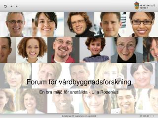 Forum för vårdbyggnadsforskning