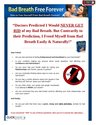 Bad Breath Free Forever
