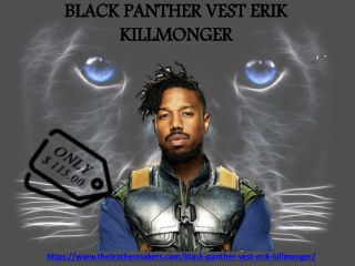 BLACK PANTHER VEST ERIK KILLMONGER