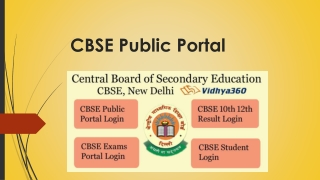 Central Board Of Secondary Education Public Portal Login @ cbse.nic.in