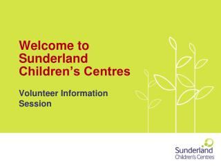 Welcome to Sunderland Children's Centres