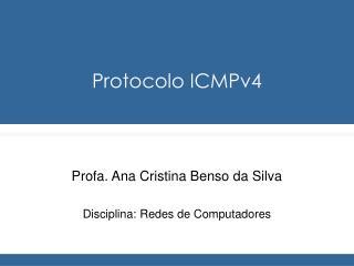 Protocolo ICMPv4