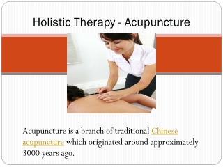 Holistic Therapy - Acupuncture
