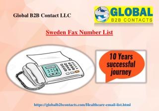 Sweden Fax Number List
