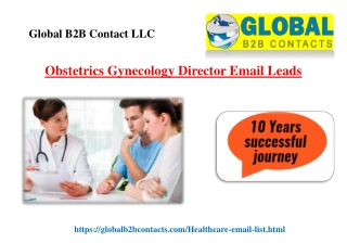 Obstetrics Gynecology Director Email Leads