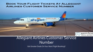 Book Your Tickets At Allegiant Airlines Customer Number