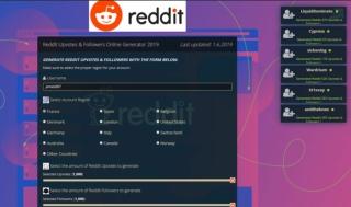 Reddit Upvotes & Followers Online Generator 2019