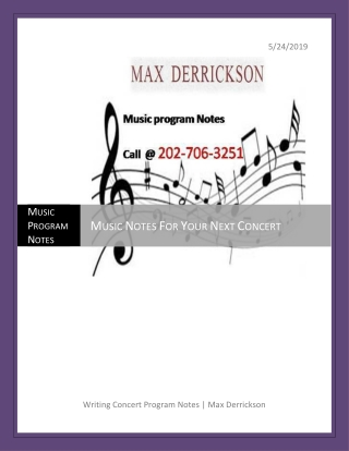 Music Notes For Your Next Concert At A Reasonable Expense