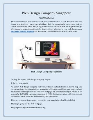 Web design company singapore