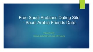 Free Saudi Arabians Dating Site - Saudi Arabia Friends Date