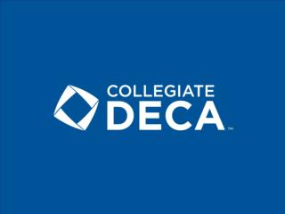 Collegiate DECA Competitive Events
