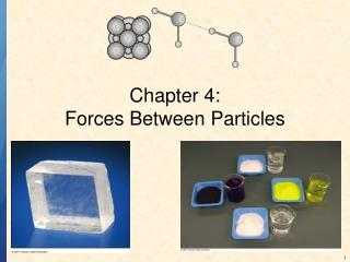 Chapter 4: Forces Between Particles