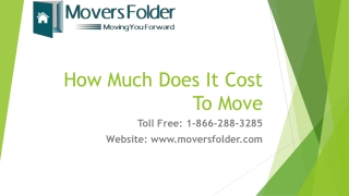 How Much Does It Cost To Move