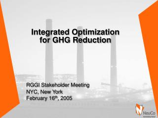 Integrated Optimization  for GHG Reduction