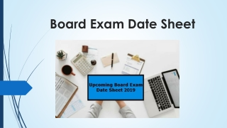 Upcoming 10th 12th Board Exam Date Sheet 2019 - Board Exam Routine