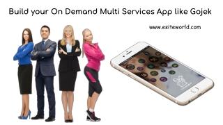 On Demand Multi Services App like Gojek
