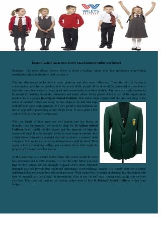 St Mary School Uniform