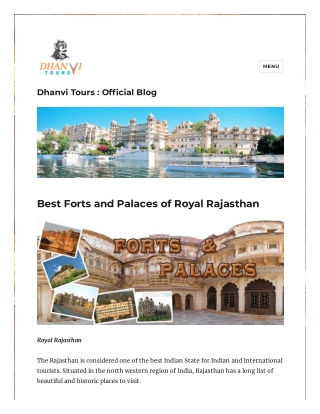 Best forts and palaces of royal Rajasthan