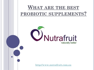 What are the best probiotic supplements?