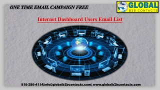 Internet Dashboard Users EmailList