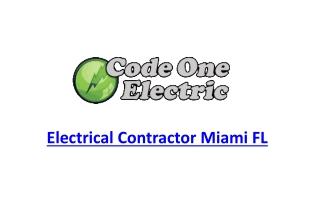 Electrical Contractor Miami FL
