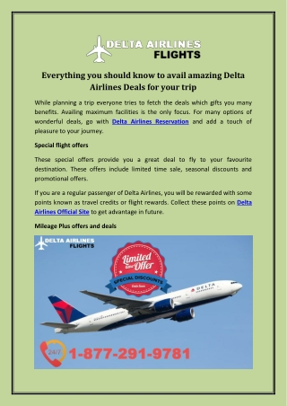 Everything You Should Know to Avail Amazing Delta Airlines Deals for Your Trip
