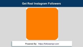 Get Real Instagram Followers