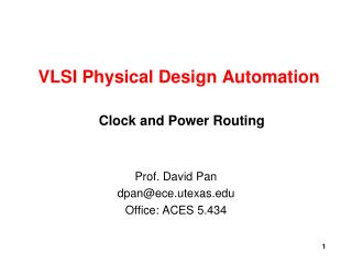VLSI Physical Design Automation
