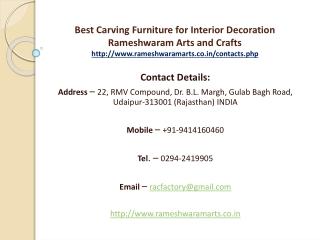 Best Carving Furniture for Interior Decoration Rameshwaram Arts and Crafts