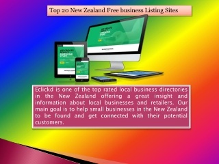 Top 20 New Zealand Free business Listing Sites