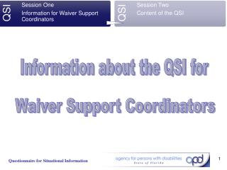 Waiver Support Coordinators