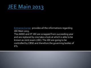 JEE Main 2013