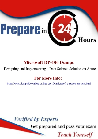 Microsoft DP-100 Exam Question – Full Money Back Guarantee