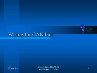 Wiring for CAN bus