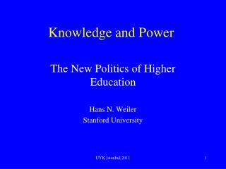 Knowledge and Power