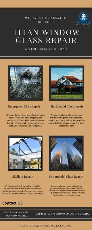 Same day Emergency Glass Repair Service | Titan Window Glass
