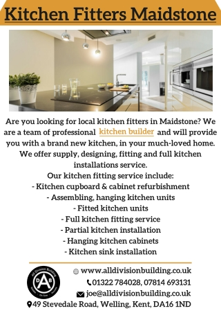 Kitchen Fitters Maidstone