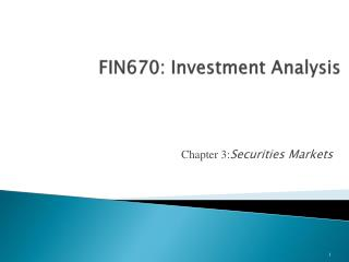 FIN670: Investment Analysis