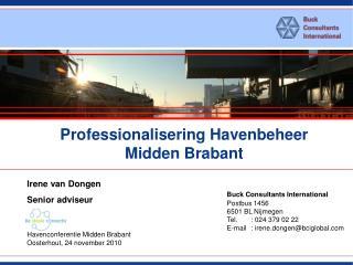 Professionalisering Havenbeheer Midden Brabant